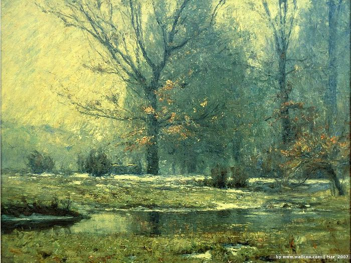 Creek In Winter T C Steele Indiana Landscapes Paintings